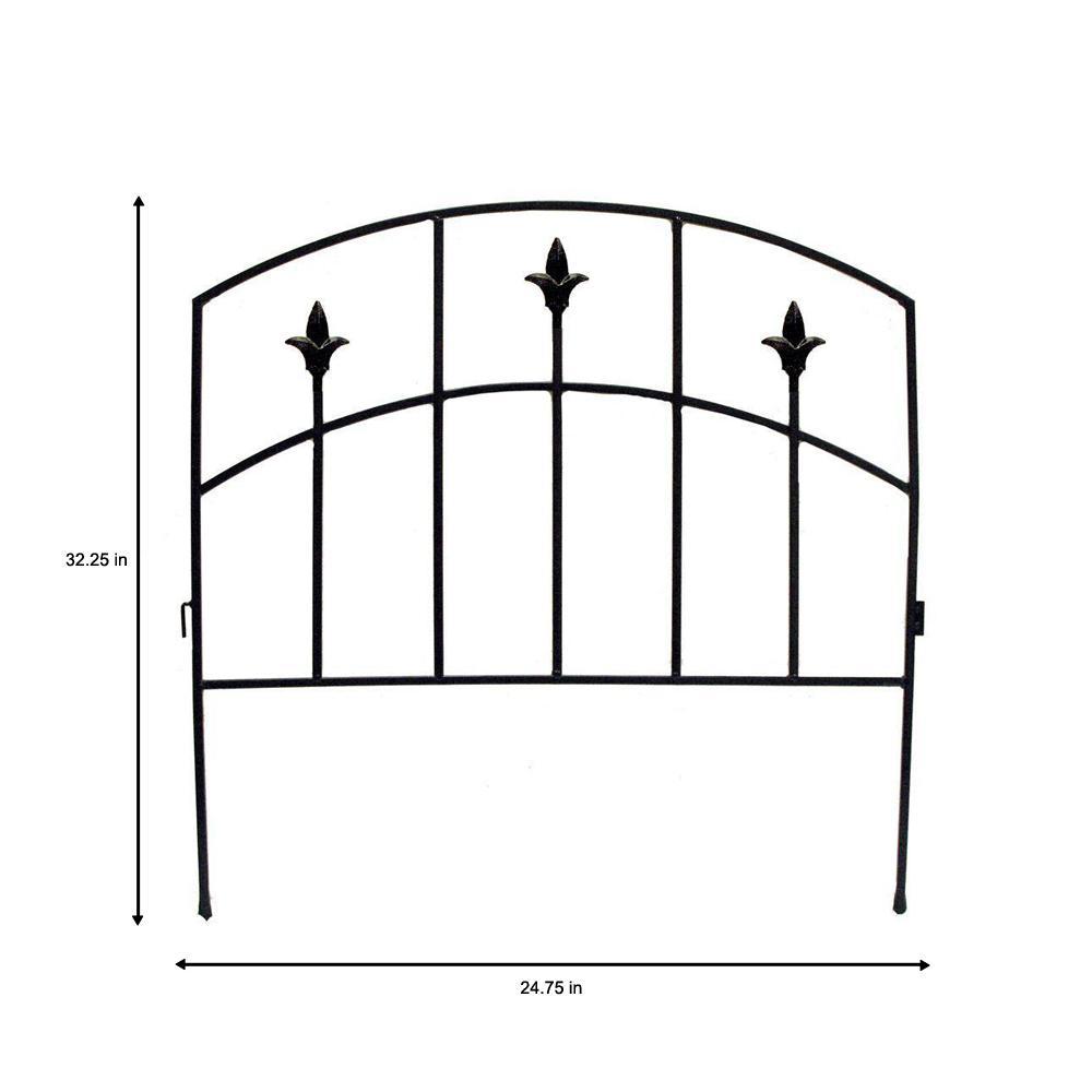 Alexander 32 In Steel Garden Fence