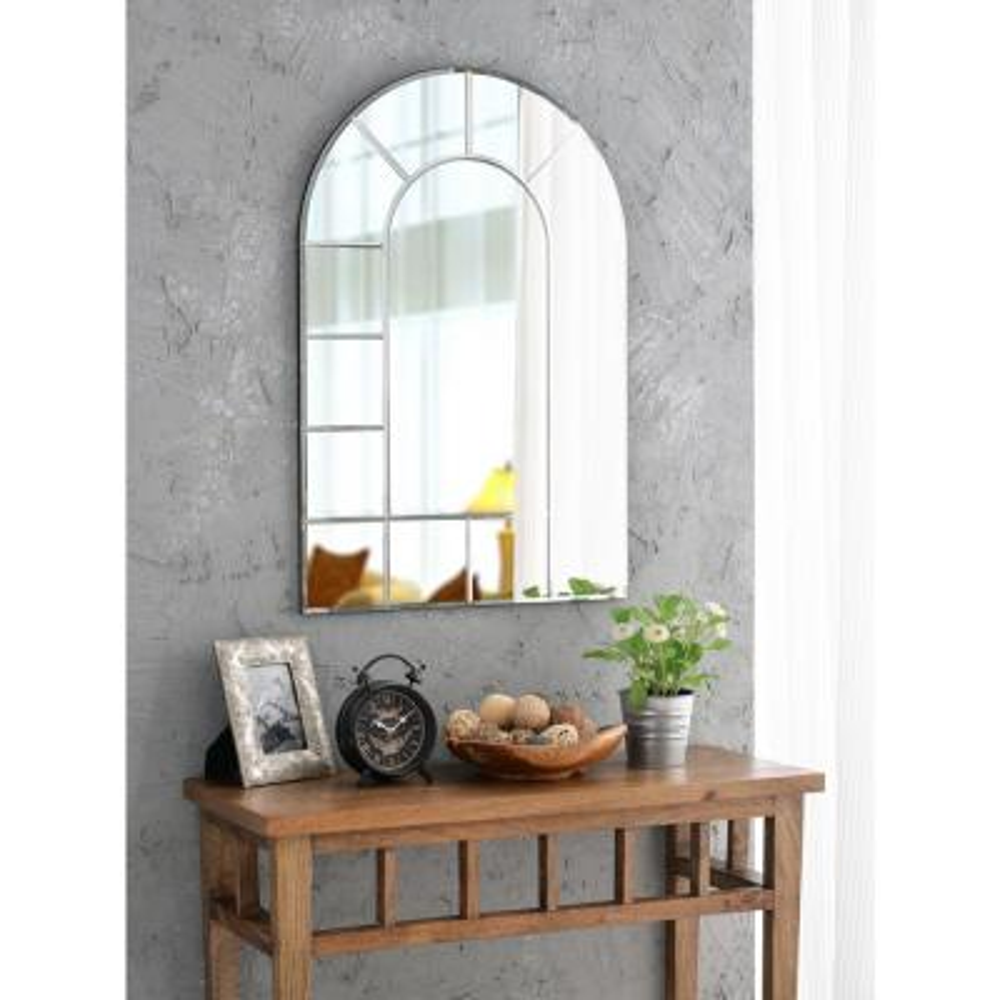 Medium Arch Beveled Glass Mirror (35.5 in. H x 23.62 in. W)