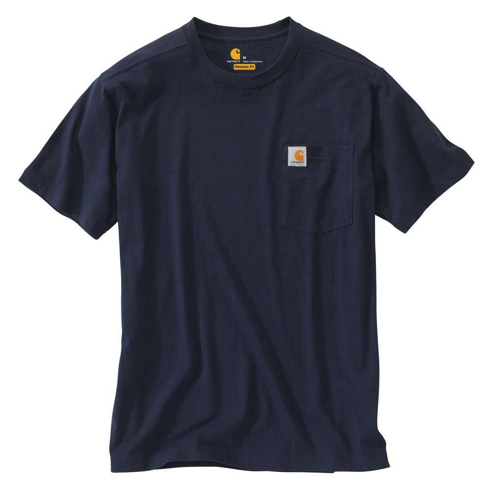 Men's Regular Medium Navy Cotton Short-Sleeve T-Shirt