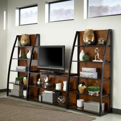 Aero Cherry and Black 3 Piece Entertainment Center
