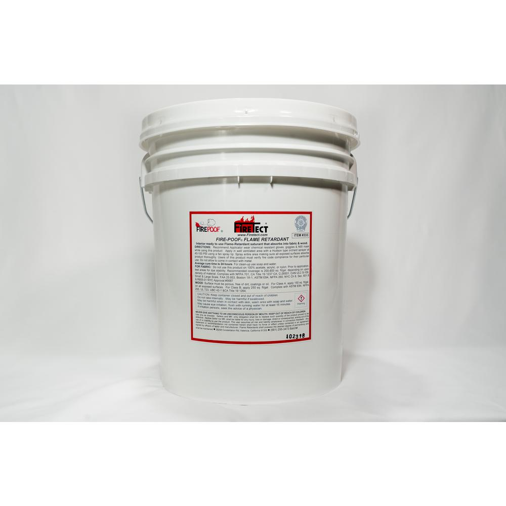 Firetect Fire-Poof 5 gal. Clear Interior Fireproofing Flame Retardant Liquid Spray for Fabric and Raw Wood
