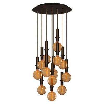 13-Light Bronze Chandelier