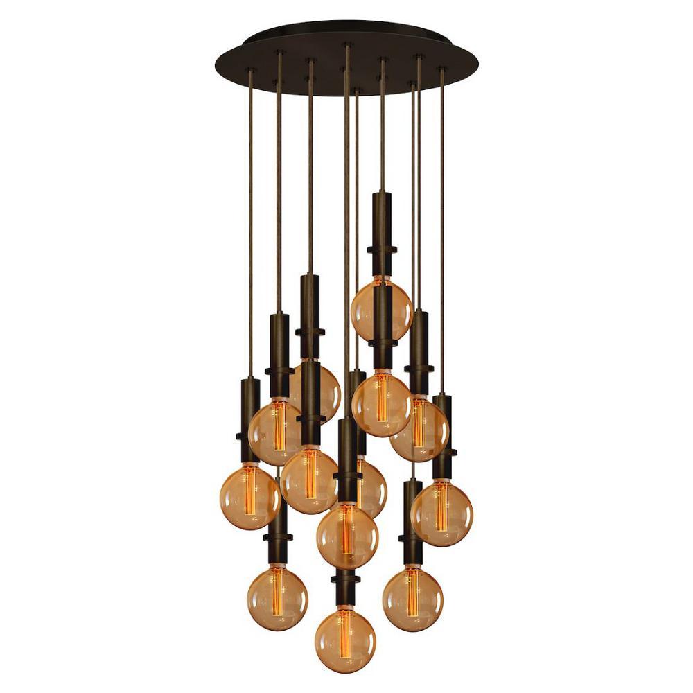 13-Light Bronze Chandelier