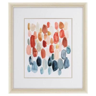 Victoria Champagne Gold Color Gallery Abstract Frame Wall Art 31 in. x 27 in.