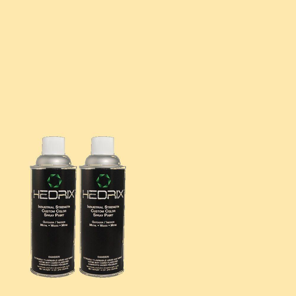 Hedrix 11 oz. Match of 340A-3 Song of Summer Flat Custom Spray Paint (2-Pack)