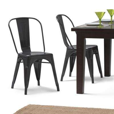 Fletcher Grey Metal Dining Side Chair (Set Of 2)
