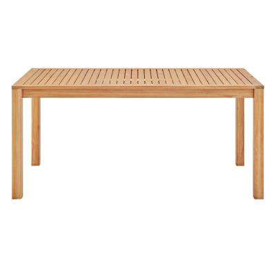 Farmstay Natural 63 in. Rectangle Teak Wood Outdoor Dining Table