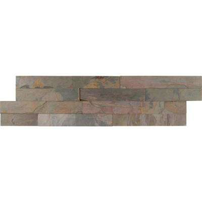 Ankara Gold Ledger Panel 6 in. x 24 in. Natural Slate Wall Tile (8 sq. ft. / case)