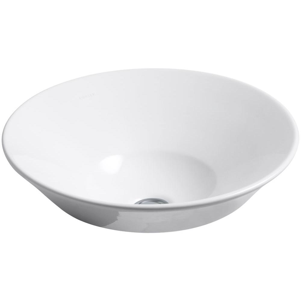 Kohler Conical Bell Vitreous China Vessel Sink In White