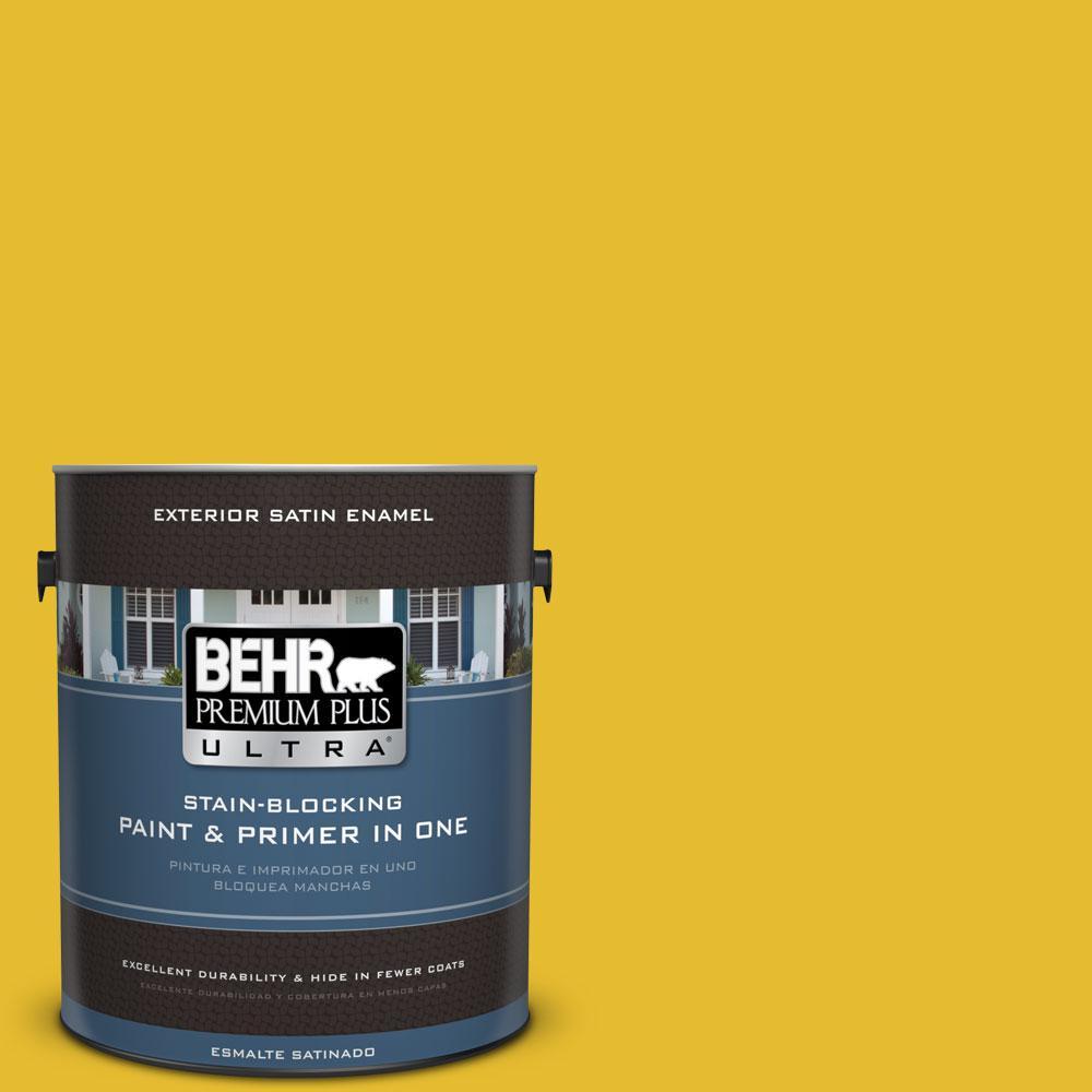 BEHR Premium Plus Ultra 1-gal. #T11-11 Lizard Breath Satin Enamel Exterior Paint