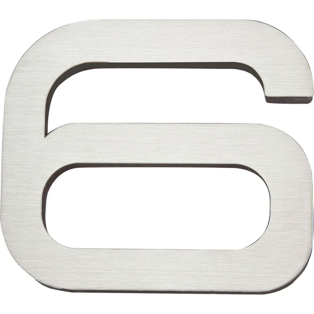 Atlas Homewares Paragon Collection 4 in. Stainless Steel Number 6