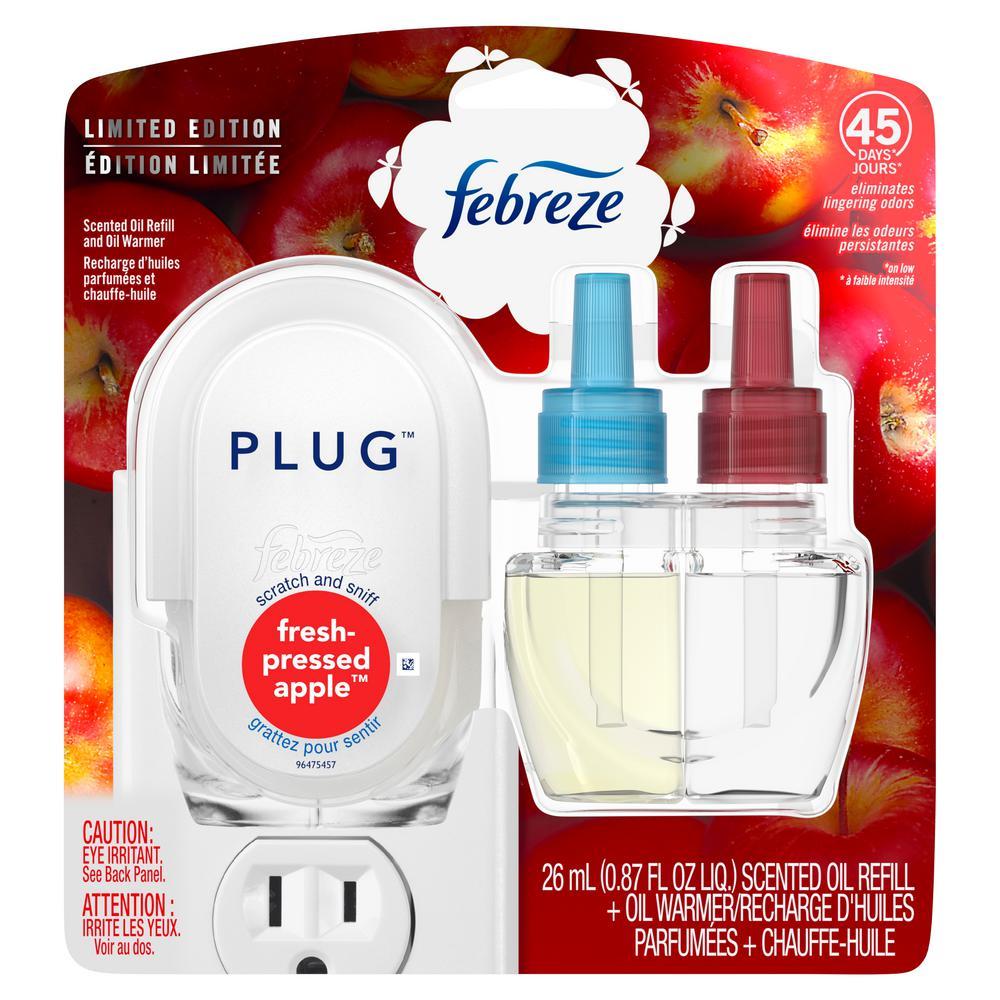 Plug 0.87 oz. Fresh-Pressed Apple Scent Air Freshener Scented Oil Refill