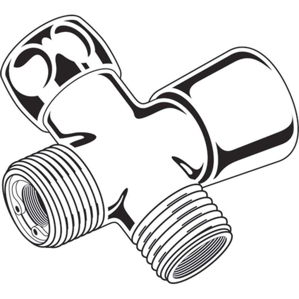Traditional Handshower Shower Arm Diverter in Polished Brass