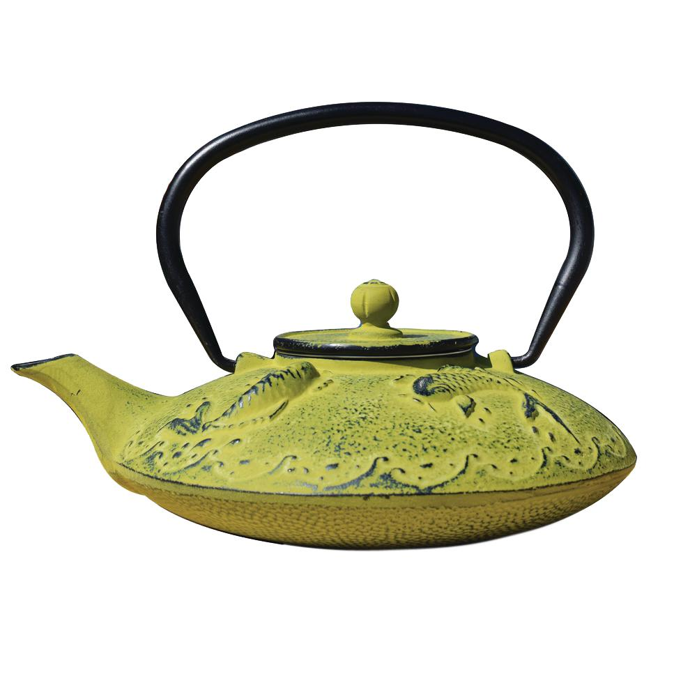 Old Dutch Agon Koi 3.12-Cup Teapot in Moss Green