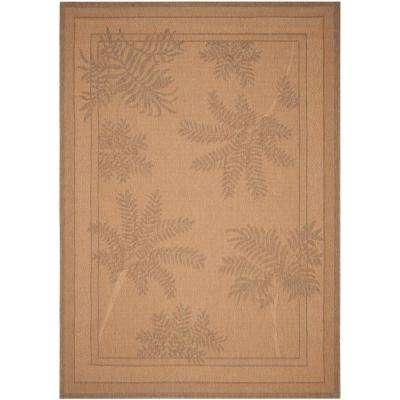 Courtyard Natural/Gold 7 ft. x 10 ft. Indoor/Outdoor Area Rug