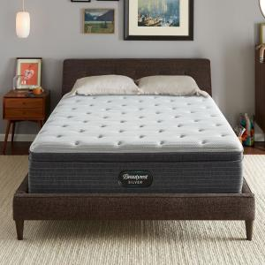 Deals on Beautyrest Silver BRS900 13in. Plush Innerspring Mattress Set Qn