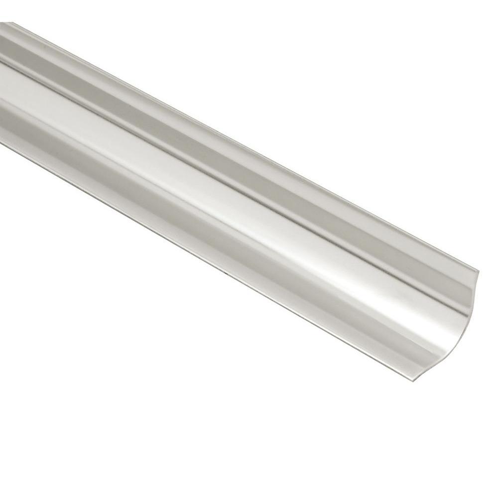 ECK-KHK Brushed Stainless Steel 9/16 in. x 8 ft. 2-1/2 in. Metal Corner Tile Edging Trim