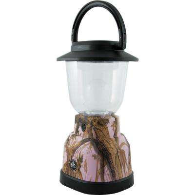 Battery Operated LED Pink Camoflage Lantern