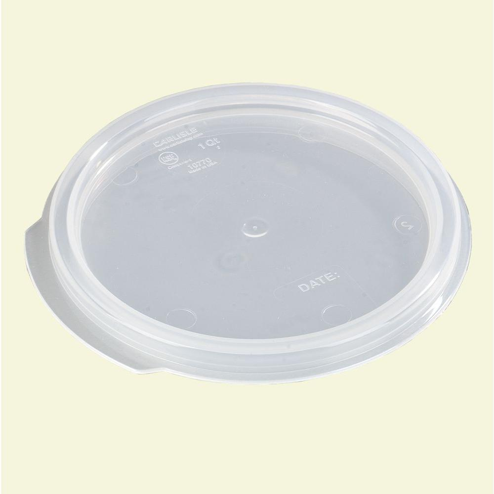 Carlisle Lid for 1 qt. See-Thru Polypropylene Round Storage Container (Case of12)