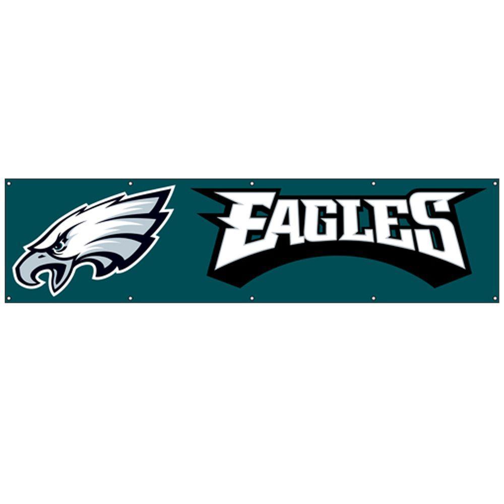 Party Animal 8 ft. x 2 ft. NFL License Eagles Team Banner