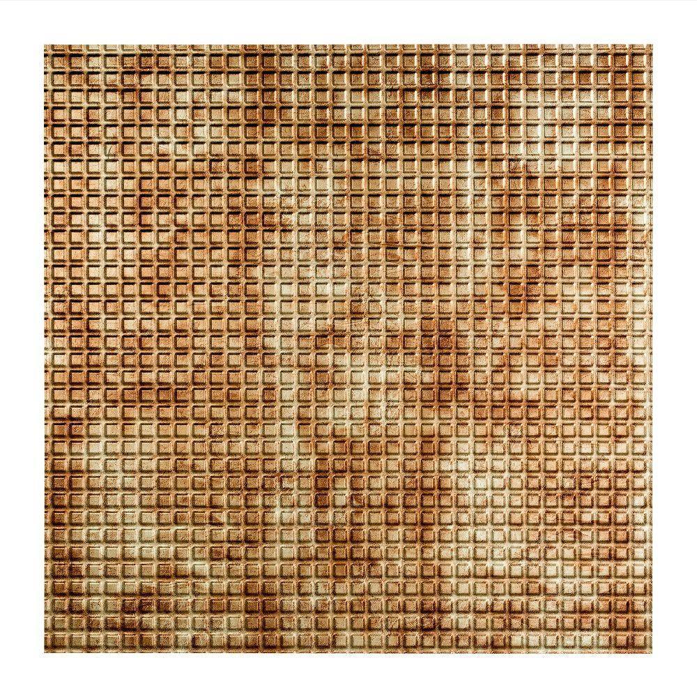 Square - 2 ft. x 2 ft. Lay-in Ceiling Tile in Bermuda Bronze
