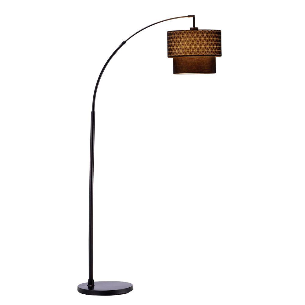 Adesso gala 71 in black arc lamp 3029 01 the home depot black arc lamp aloadofball Choice Image