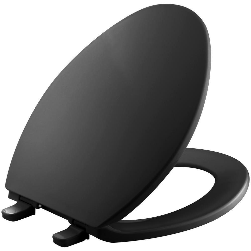 Brevia Elongated Closed Front Toilet Seat in Black