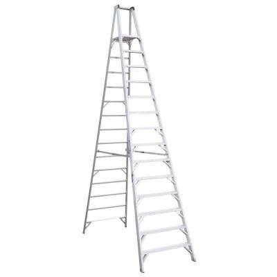 14 ft. Aluminum Platform Step Ladder with 300 lb. Load Capacity Type IA