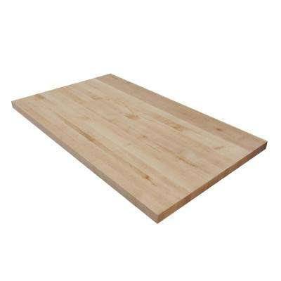 3 ft. 6 in. L x 2 ft. 1 in. D x 1.5 in. T Butcher Block Countertop in Finished Maple