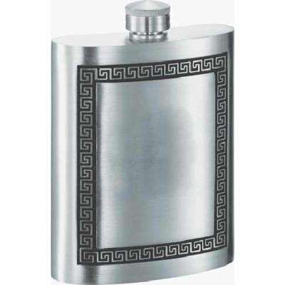 Kalos Greek Design Pewter Liquor Flask