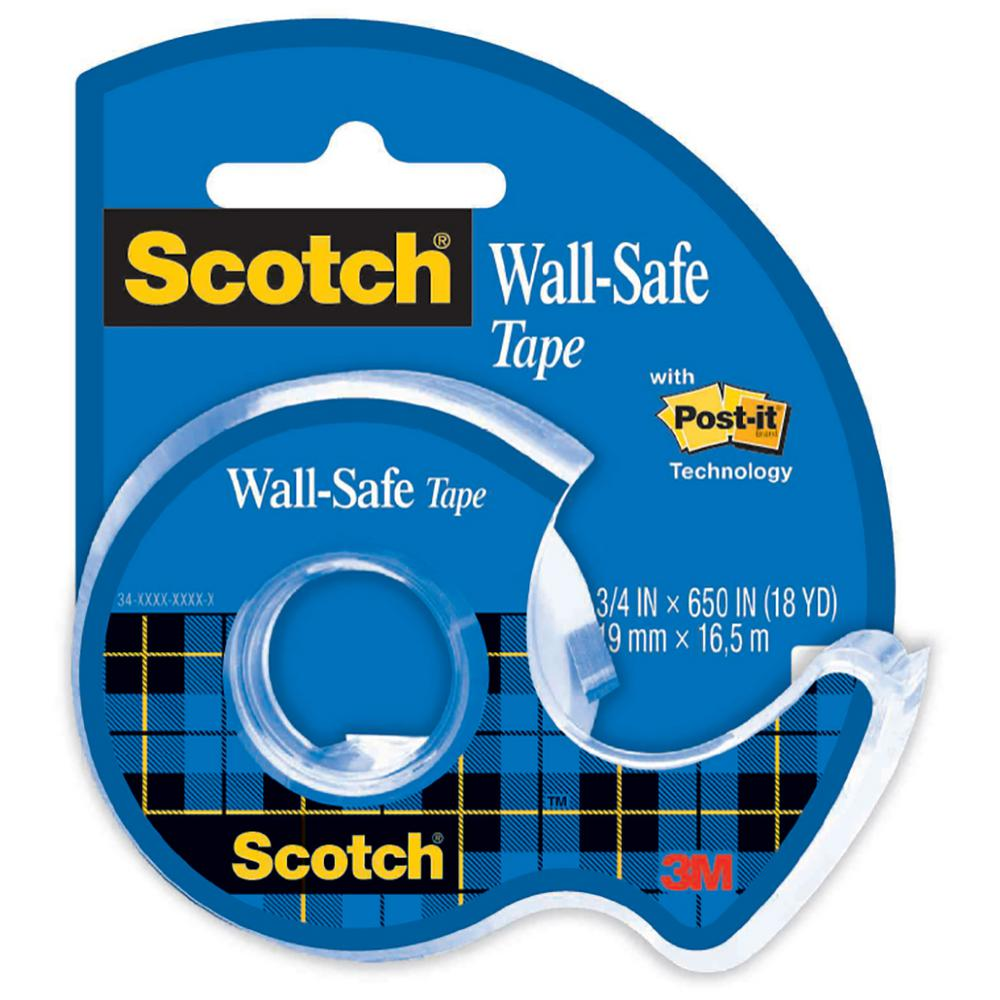 Scotch 0.75 in. x 650 in. Wall-Safe Tape with Dispenser (Case