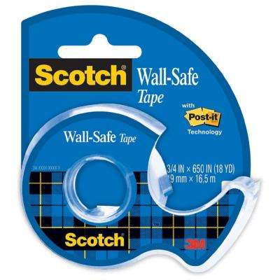 Scotch 0.75 in. x 650 in. Wall-Safe Tape with Dispenser (Case of 72)
