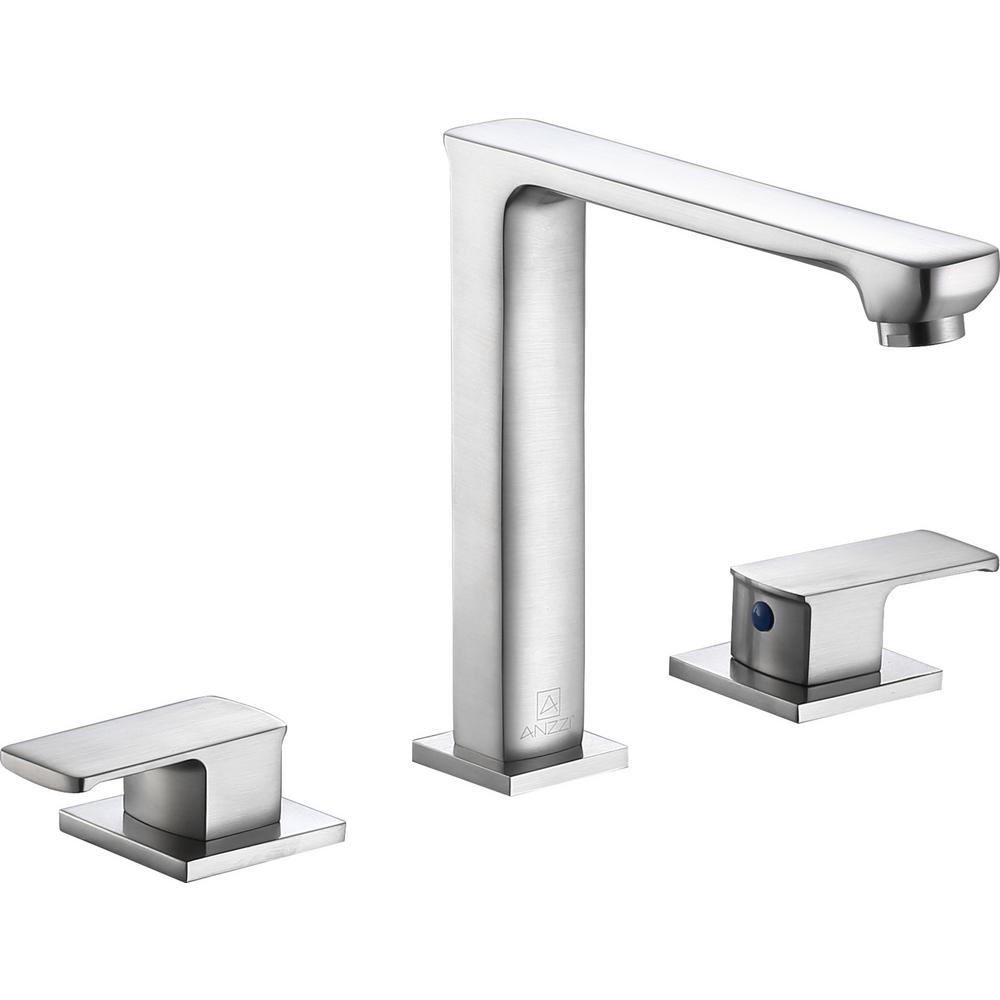 Alpine 8 in. Widespread 2-Handle Bathroom Faucet in Brushed Nickel