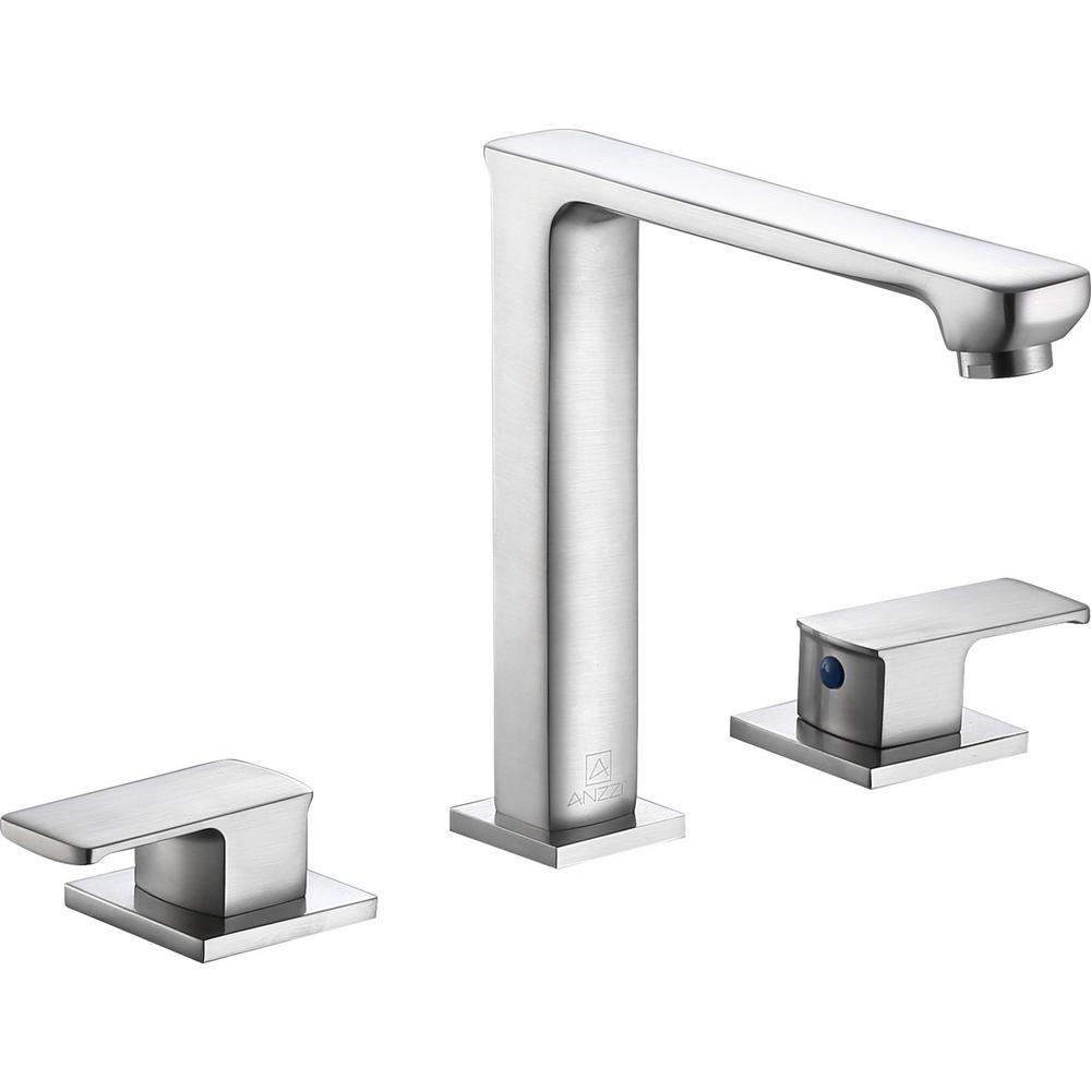 Alpine 8 in. Widespread 2-Handle Bathroom Faucet in Brushed Nickel