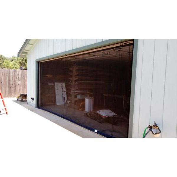 ROLL-UP GARAGE DOOR SCREEN ZIP-ROLL BRAND 16/' X 7/'-90 DEGREE CORNERS