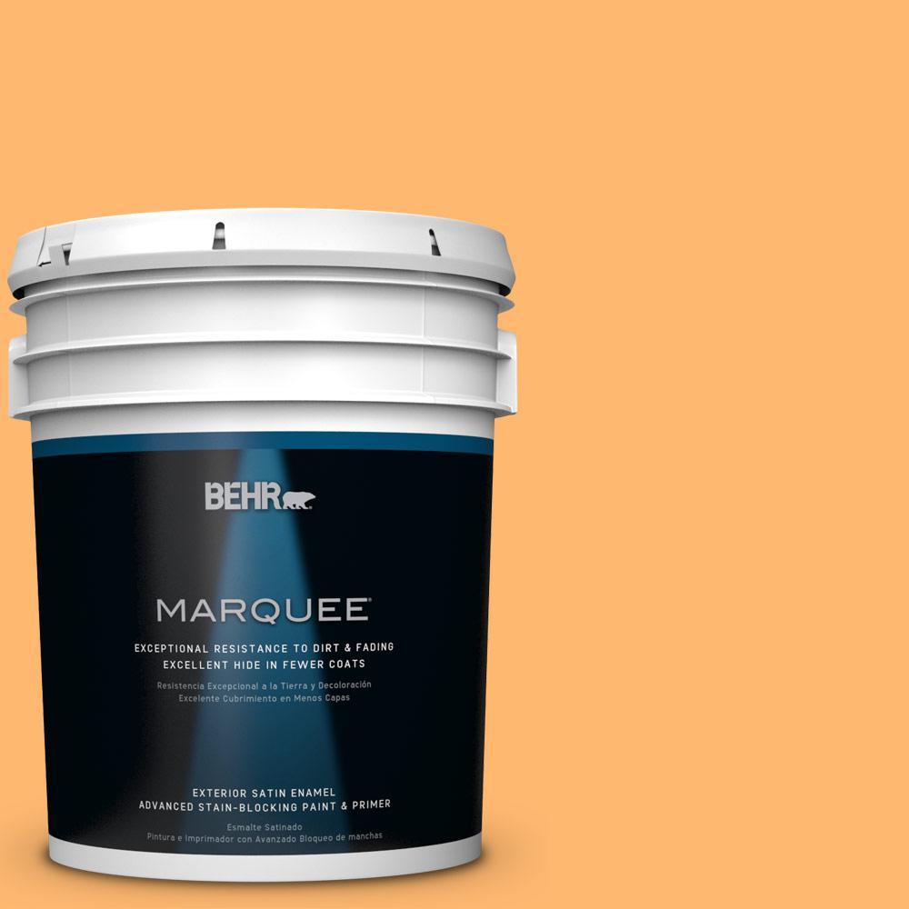 BEHR MARQUEE 5-gal. #P240-5 Cheese Puff Satin Enamel Exterior Paint