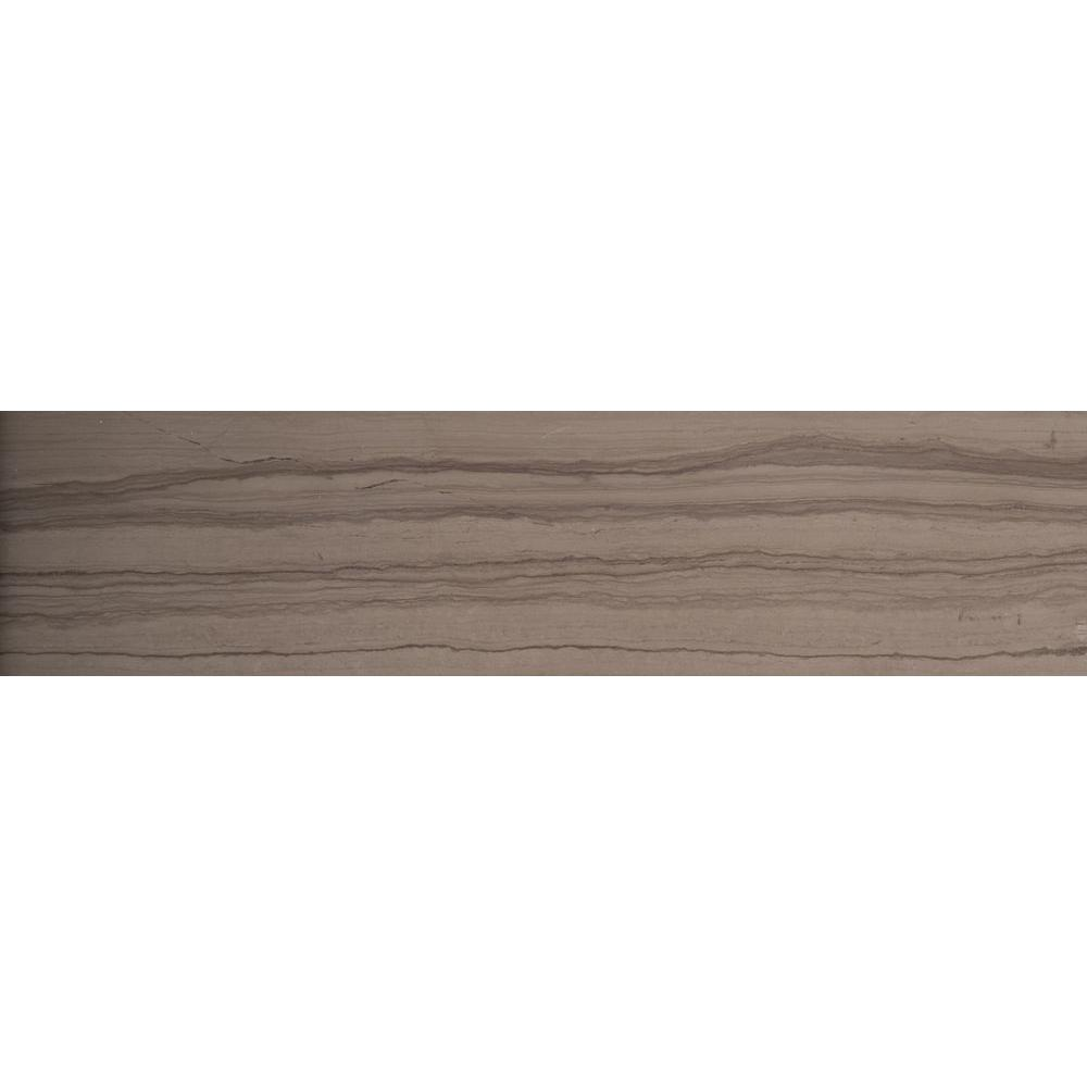 Metro Taupe 3 in. x 6 in. Marble Floor and Wall