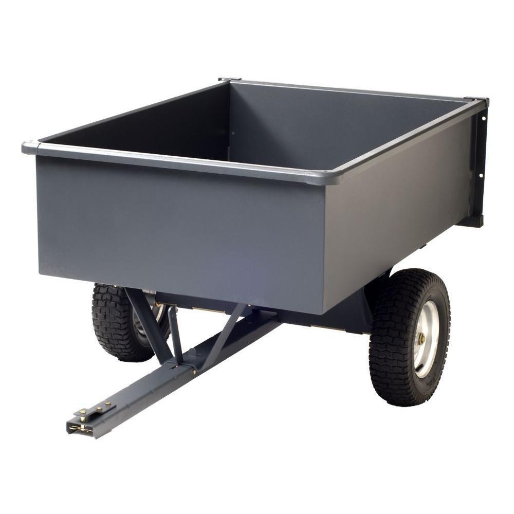 Precision 15 cu. ft. Steel Trailing Dump Cart by Precision