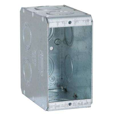 Single Gang Masonry Box, 3-1/2 in. Deep with 1/2 and 3/4 in Concentric KO's (25-Pack)