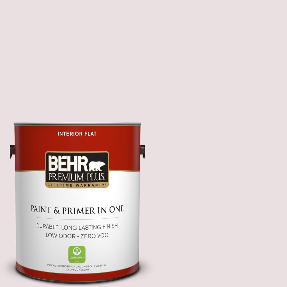 BEHR Premium Plus 1-gal. #130E-1 Glaze White Zero VOC Flat Interior Paint