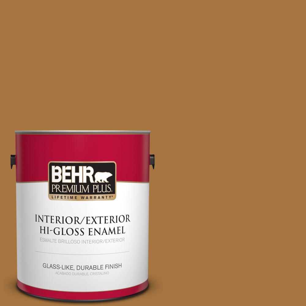 1 gal. #MQ4-6 Invitation Gold Hi-Gloss Enamel Interior/Exterior Paint