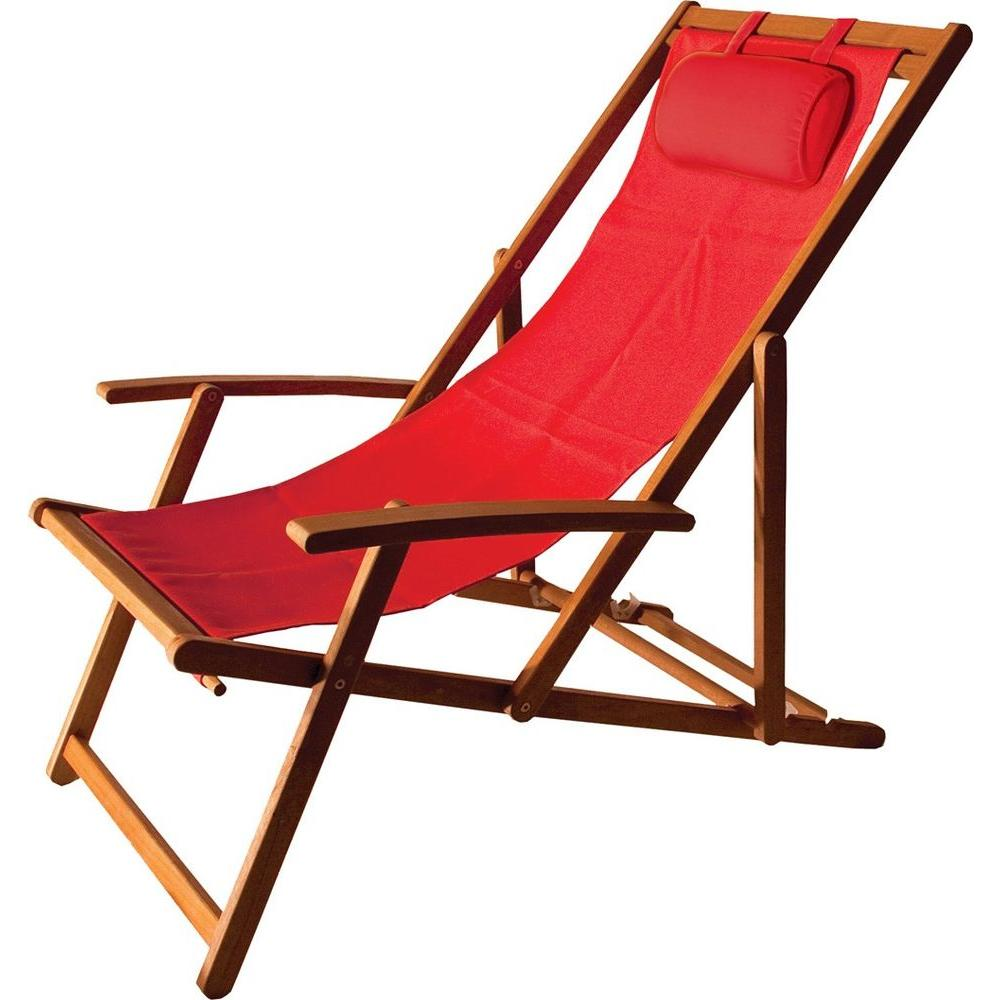 Islander Folding Sling Patio Chair  sc 1 st  Home Depot & Beach u0026 Lawn Chairs - Patio Chairs - The Home Depot