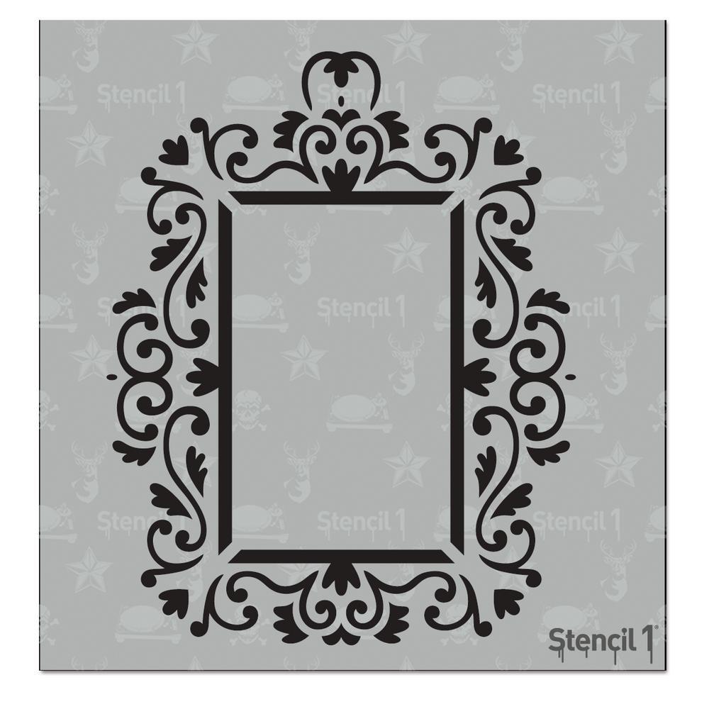 Stencil1 rococo frame 3 small stencil s101214s the home depot stencil1 rococo frame 3 small stencil jeuxipadfo Image collections