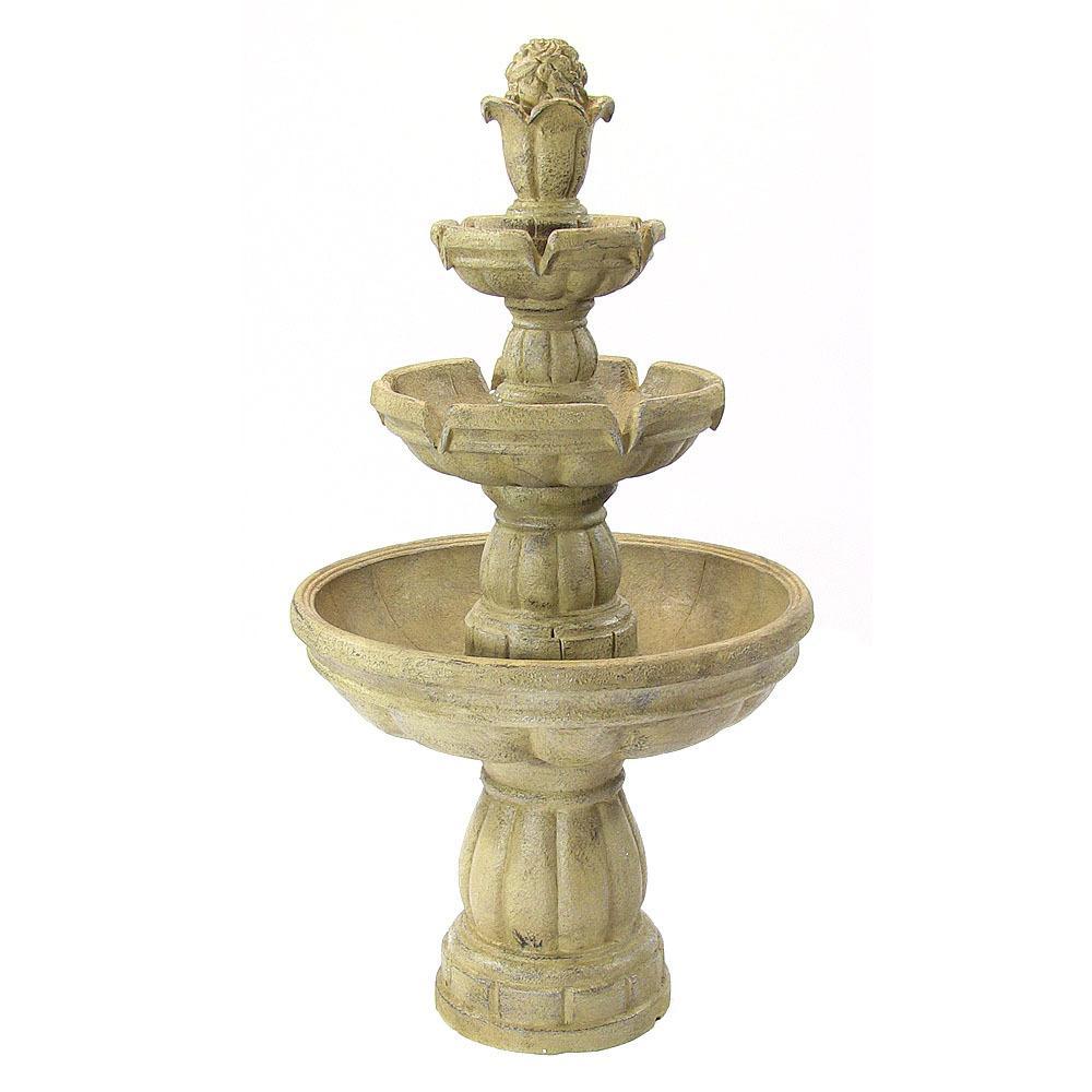 48 in. 3-Tier Outdoor Water Fountain