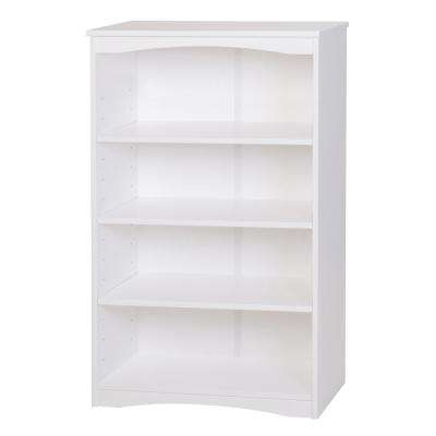 Essentials White 48 in. H Wooden Bookcase