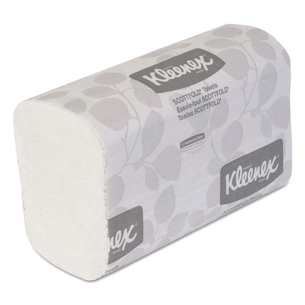 Kleenex 8-1/10 in. x 12-2/5 in. White Scottfold Paper Towels 120-Count (25-Pack)