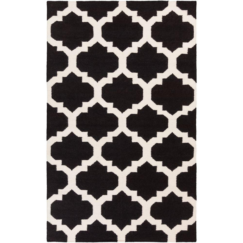 York Harlow Black 9 ft. x 12 ft. Indoor Area Rug