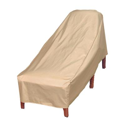 Basics Water Resistant Outdoor Patio Chaise Lounge Cover, 27 in. W x 76 in. D x 30 in. H, Beige