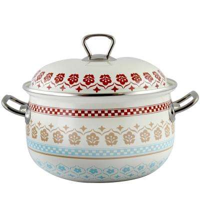 Cottage Chic 4 Qt. Enamel on Steel Casserole with Lid