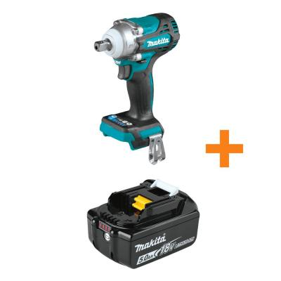18-Volt LXT Brushless Cordless 4-Speed 1/2 in. sq. Drive Impact Wrench with Detent Anvil w/Bonus 18V LXT 5.0Ah Battery